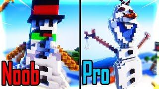 Thăm Nhà Noob Xây Người Tuyết Olaf Frozen Trong Minecraft