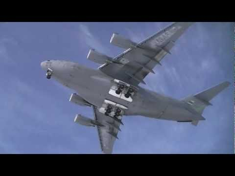 Huge Airplane Flyover & Landing