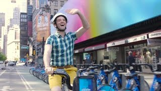 Michael Urie Takes a Star-Studded Citi Bike Ride to the Drama Desk Awards