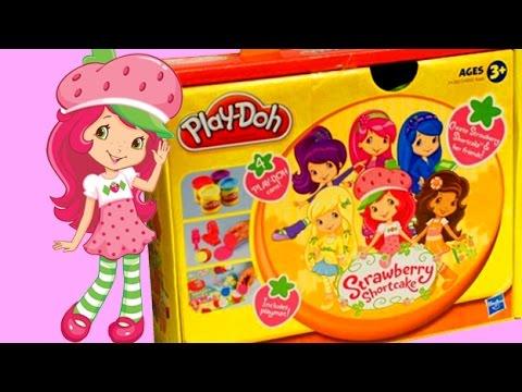 Play Doh Strawberry Shortcake playset toy playdo Tarta de fresa plastilina by Unboxingsurpriseegg