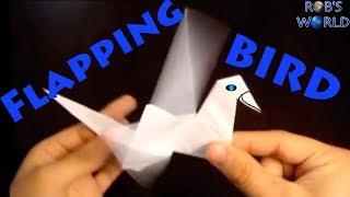 Origami uçan kuş yapımı - kanatları hareketli kuş