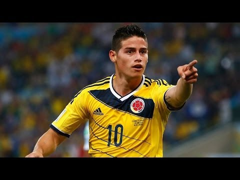 James Rodriguez Amazing goal ~ Columbia vs Uruguay 2-0 (World Cup 2014) HD