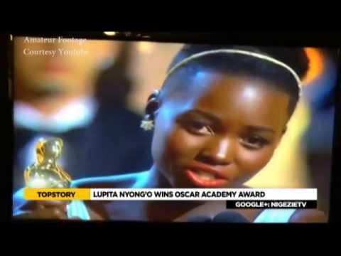 E-XTRA: LUPITA NYONG'O WINS OSCARS ACADEMY AWARD