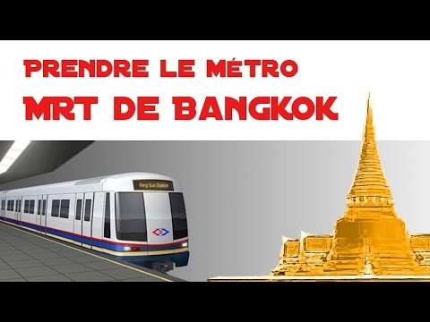 mrt, métro souterrain de bangkok