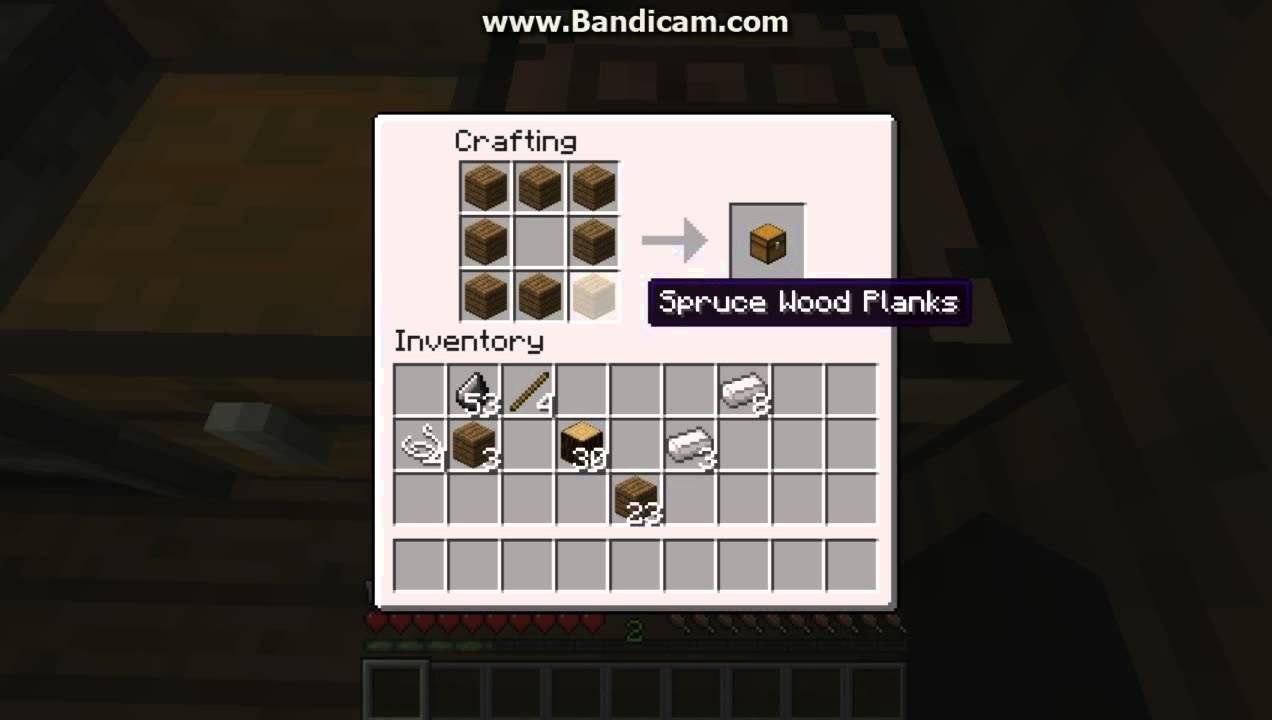 Crafting Wooden Pickaxe