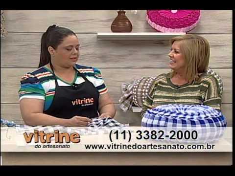 Almofada Capitonê com Valéria Soares - Vitrine do Artesanato na TV