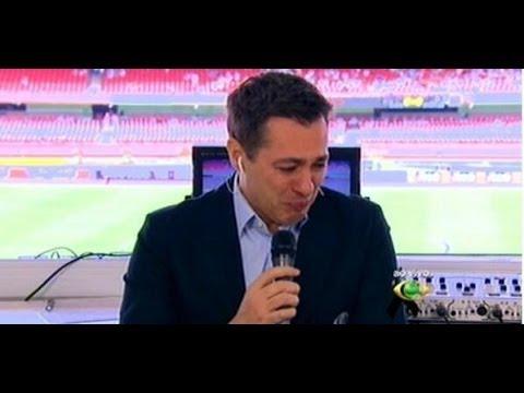 Nivaldo Prieto não consegue entrar no ar e chora ao vivo (20/04/2014)