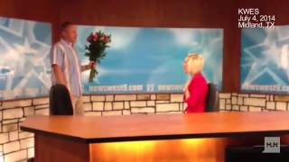 Watch A News Anchor Get Tricked Into Reading Her Own Marriage Proposal On Air