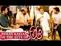 Pawan Kalyan on the sets of A Aa - Anasuya Ramalingam vs A..