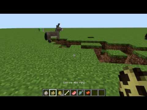 Cách thuần phục Mèo rừng, Chó sói, Ngựa trong Minecraft