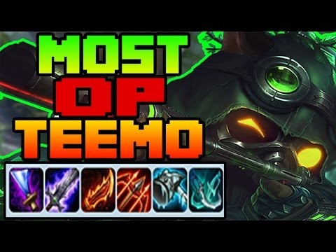 MOST OP TEEMO EVER | ONE SHOT THE SQUISHY | League of Legends 7.6 | Patch 7.6