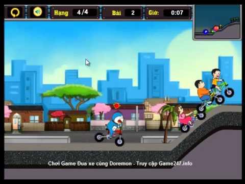 Chơi game đua xe cùng Doremon, video hướng dẫn chơi game đua xe cùng Doremon