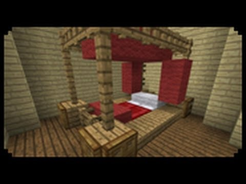 Minecraft: How to make a Poster Bed - YouTube