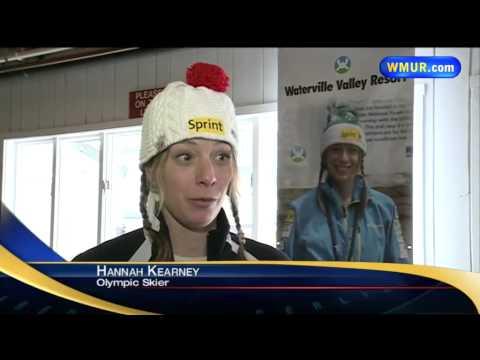 Hannah Kearney training at Waterville Valley