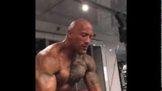 "Dwayne "" The Rock "" Johnson Workout video 2013"