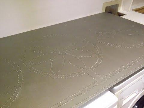 ... Steel Countertop. Bancada de Aco Inoxidavel Falso. - YouTube