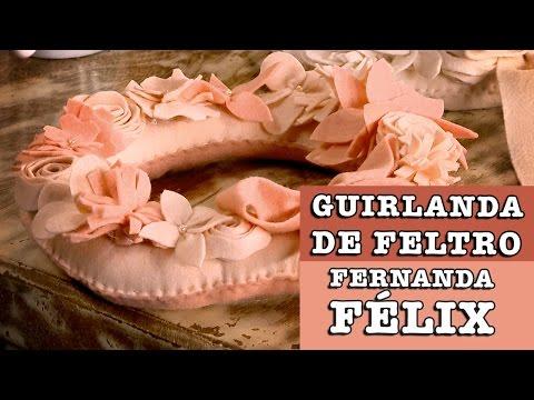19/08/2014 - Guirlanda de Feltro (Fernanda Félix)