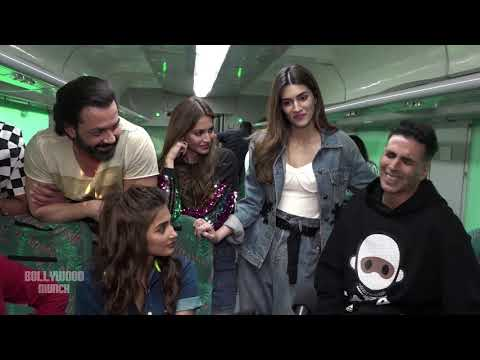Housefull 4 Cast FULL FUNNY Interview in a Running Train | Akshay,Riteish,Bobby,Kriti,Pooja,Kriti