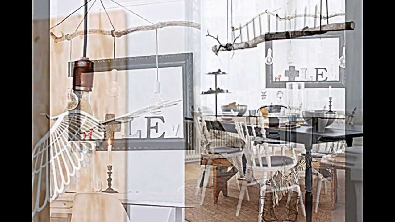 Holz lampen selber machen deko mit zweigen im naturlook for Deko zu hause