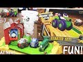 Toy Trains NEW Thomas and Friends Trackmaster Twisting Tornado Set Monster Jam Truckin Pals
