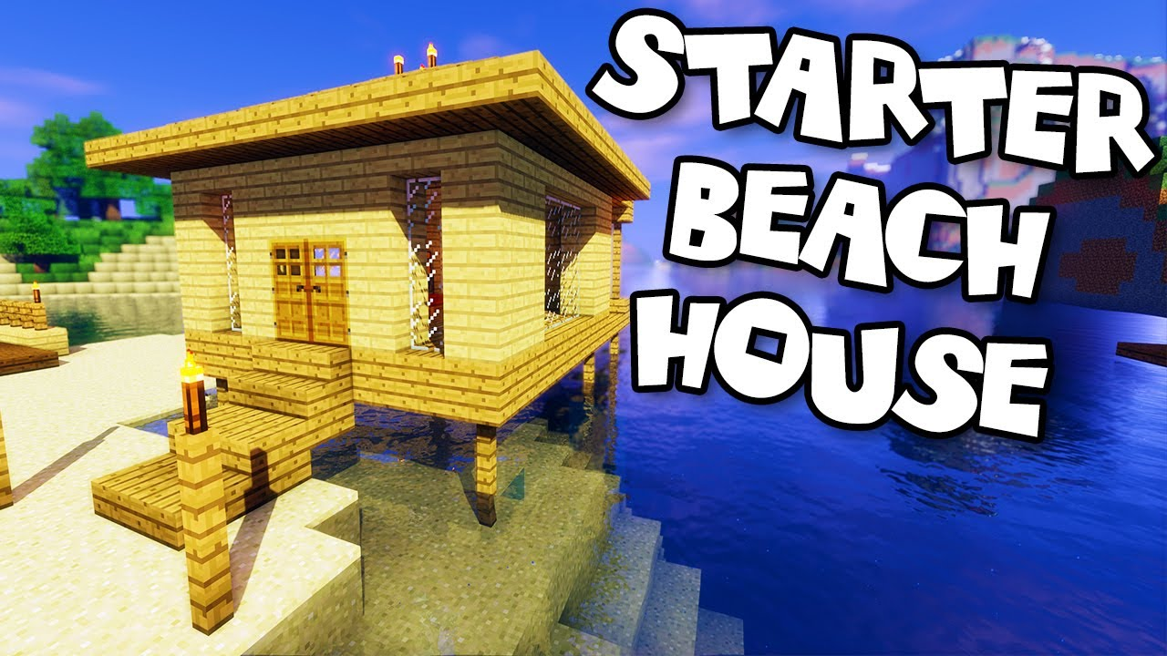 how to build a minecraft beach house