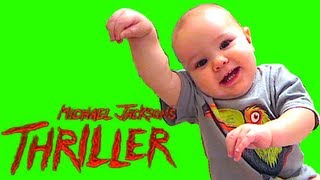 1 YEAR OLD BABY DOES MICHAEL JACKSON'S THRILLER DANCE!!!