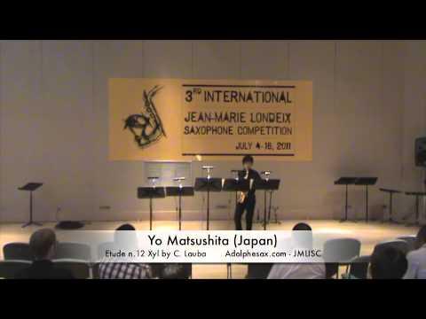 3rd JMLISC: Yo Matsushita (Japan) Etude n.12 Xyl by C. Lauba