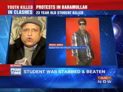 Student killed in fierce clashes in Baramullah