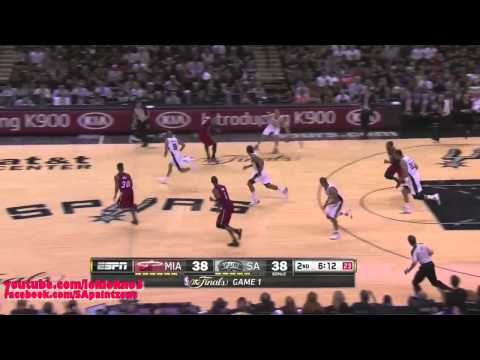 Manu Ginobili Full Highlight vs Heat Game1 16 Pts, 5 Reb, 11 Ast, 3 Stl, 1 Blk (  NBA FINALS 2014 )