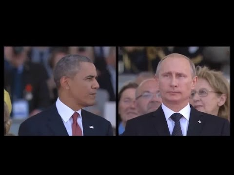 Barack Obama VS Vladimir Putin, Normandy. 06 June, 2014