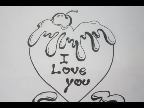 V Alphabet Images With Love How To Draw A Valentine Heart With Chocolate Letters I LOVE YOU