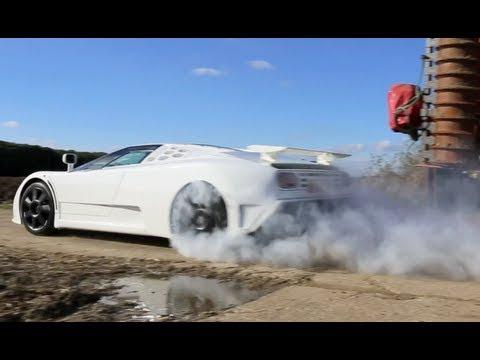 Burnout en Bugatti EB110 SS