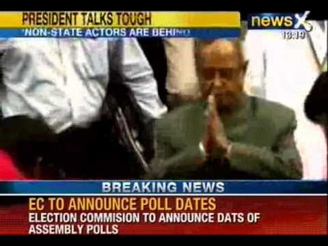 NewsX: President Mukherjee talks tough on Pak, says state-sponsored terror can't be accepted