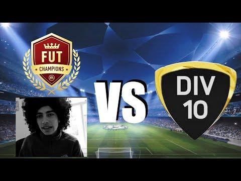 FUT Champions Player VS Division 10 - FIFA 18 Ultimate Team 4-4-2 Test Vs Division 10