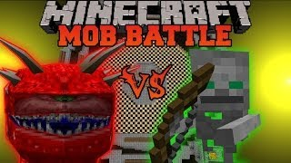 Cacodemon Vs. Skeleton Friend Minecraft Mob Battles