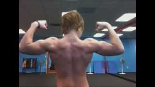 12 Year Old Bodybuilder Jake Flexing His Muscles At The