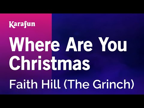karaoke where are you christmas from the grinch movie