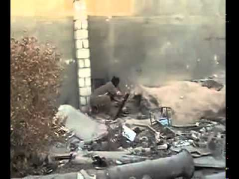 Islamist insurgent in Iraq mortar fail