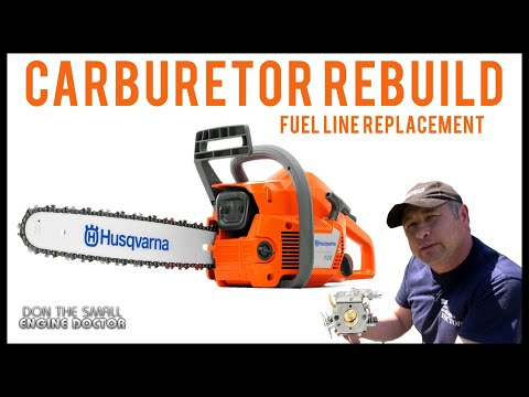Husqvarna 136 Chainsaw Carburetor Rebuild & Fuel Line Repair