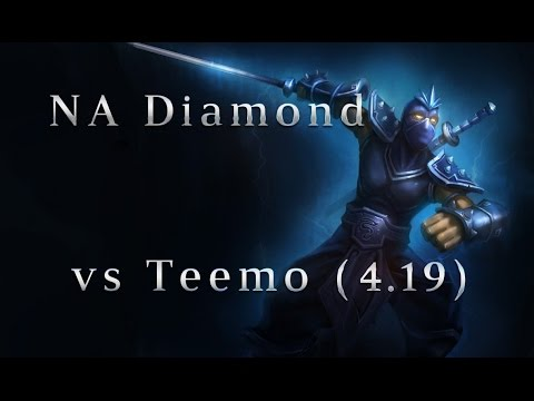NA Diamond Shen TOP vs Teemo Season 4 (4.19) League of Legends LoL Pro SoloQ