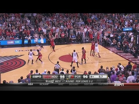 Damian Lillard 3-Pointer to Beat Houston Rockets 5-2-14 Game 6!!!!