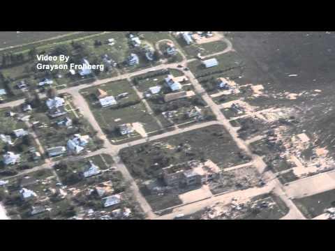 Pilger Tornado Damage From Air 2014