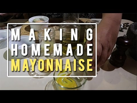 Making Homemade Mayonnaise
