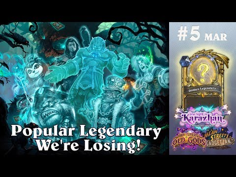 Popular Hearthstone Legendary Cards We're Losing (with Raven Year Rotation)