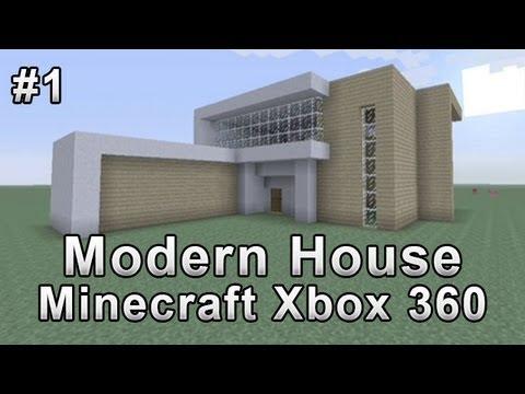 Modern house tutorial minecraft xbox 360 1 youtube for Modern house tutorial xbox 360
