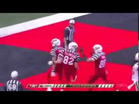 Henry Burris 23 yard touchdown pass to Greg Ellingson - September 7, 2013