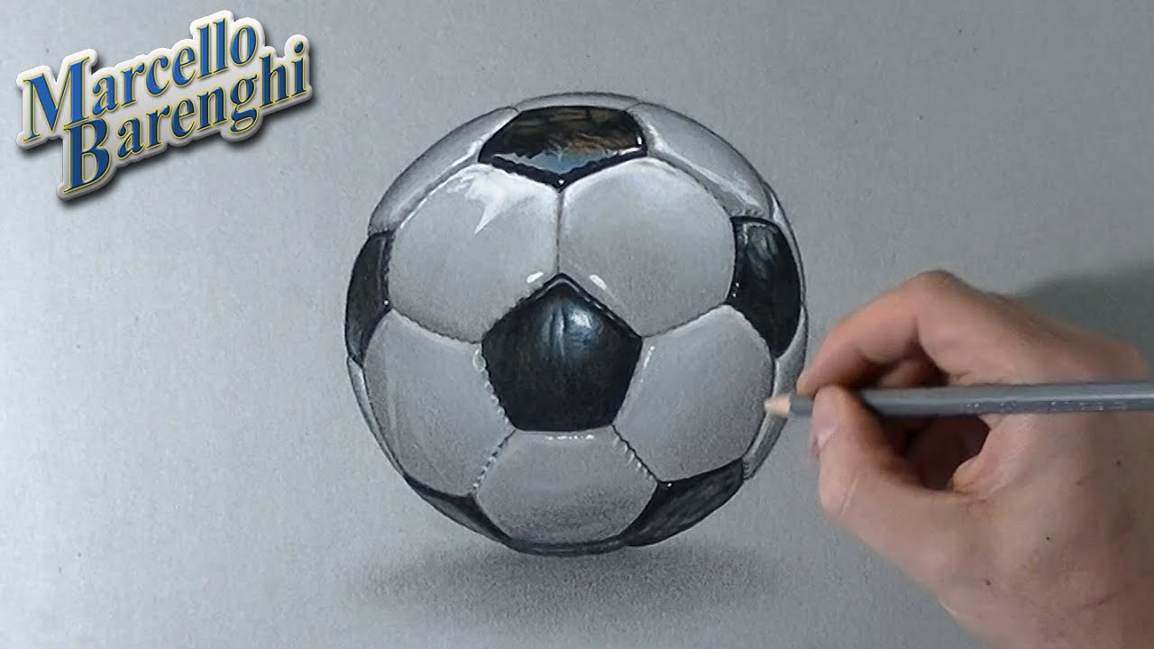 Drawing Time Lapse A Football Soccer Ball