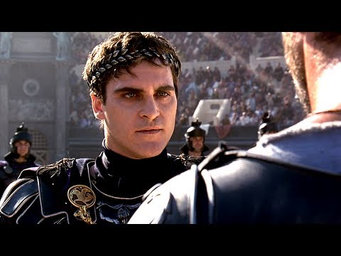 Commodus responses to Maximus' 10 hours introduction