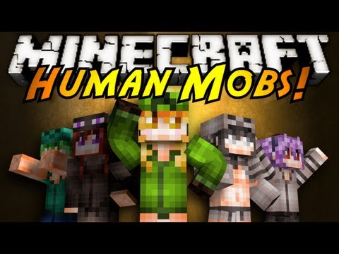 Minecraft Mod Showcase : HUMAN MOBS!, FROM CREEPERS TO SKELETONS TO EVEN ENDERMAN, MOBS HAVE BECOME HUMAN!? DON'T BE FOOLED THEY ARE STILL VERY STARTLING! Download the mod here! (tell em Sky sent...