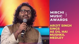 Ae Dil Hai Mushkil medley with Arijit Singh & Jonita Gandhi at Mirchi Music Awards | #RSMMA